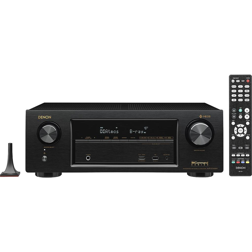 Denon AVR-X1600H 7.2 Channel AV Receiver with HEOS